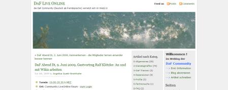 DaF Live Online » Blog Archive » DaF Abend Di, 9. Juni 2009, Gastvortrag Ralf Klötzke- An und mit Wikis arbeiten