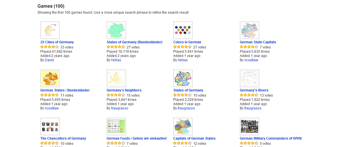 Search Results for german