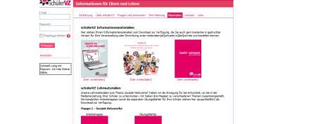 schuelerVZ  Informationen für Eltern und Lehrer