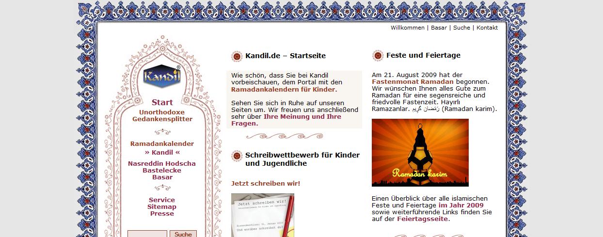 Willkommen  Ramadan und Opferfest mit Kandil.de