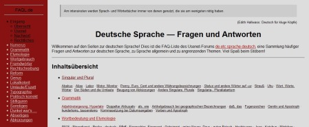 FAQ-Liste de.etc.sprache.deutsch