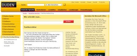 Duden – Deutsche Sprache – Rechtschreibprüfung
